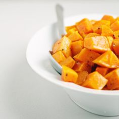 Roasted Butternut Squash Recipe - a perfect vegetable side dish. Make sure you have a really good veggie peeler for this one, but it's delicious!