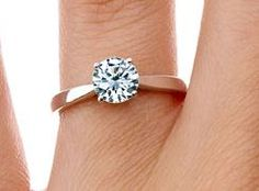 Petite Tapered Trellis Ring.  The band tapers toward the center gem for a delicate appearance.