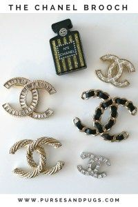 Chanel brooch. Chanel brooch collection. How to style a chanel brooch.