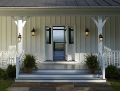 Lantern lighting for the Farmhouse Style Porch