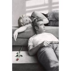 Marilyn Monroe and James Dean Poster Print, Size: 22 inch x 34 inch, Multicolor