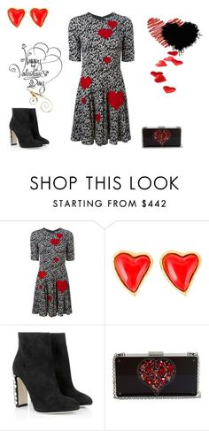 """""""Valentine Date"""" by shoppergurl09 ❤ liked on Polyvore featuring Dolce&Gabbana, Christian Lacroix, Lanvin, women's clothing, women's fashion, women, female, woman, misses and juniors"""