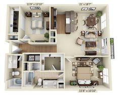 Mission Woods-Two Bedroom Floorplan - 59th & Mission - $735-$795 ...