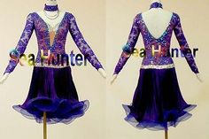 SM254 Ballroom Latin Cha Cha Samba Ramba Competition Dance Dress US 8 UK 10