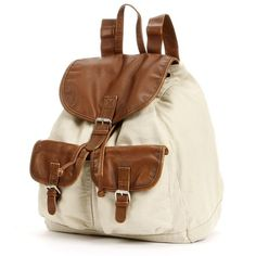 Mudd® Anna Canvas Backpack (13.400 CLP) ❤ liked on Polyvore featuring bags, backpacks, accessories, bolsa, pocket backpack, backpacks bags, canvas knapsack, brown canvas bag y canvas drawstring bag