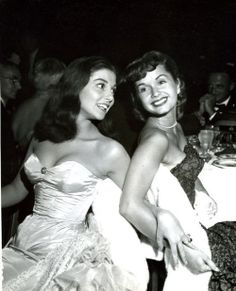 Best friends, Pier Angeli and Debbie Reynolds. Pier was dating James Dean at the time.