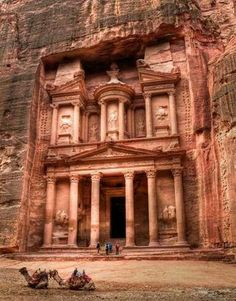 JORDAN ~Petra~ The mysterious rock-cut city of Petra is located deep in the Jordanian desert. Once a prosperous city, the site bears witness to the time when the Nabateans were the most powerful tribe in all of the near east.