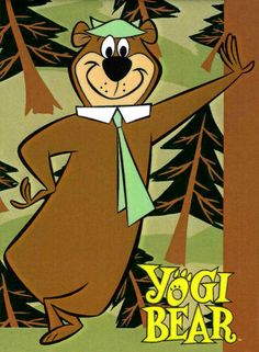 Yogi Bear: Smarter than the average bear ! The Yogi Bear Show is an animated television series and the first incarnation of Hanna-Barbera's Yogi Bear saga about the misadventures of picnic basket stealing bear Yogi in Jellystone Park. Famous Cartoons, Retro Cartoons, Old Cartoons, Classic Cartoons, Animated Cartoons, Cartoon Cartoon, Cartoon Photo, Vintage Cartoon, Classic Cartoon Characters