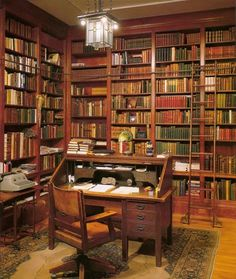 I want to live in this quaint old library.