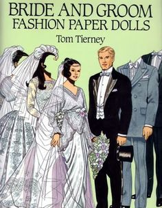 BRIDE & GROOM (Moda) - FAFASHIONED - Picasa Web Albums*** Paper dolls for Pinterest friends, 1500 free paper dolls at Arielle Gabriel's International Paper Doll Society, writer The Goddess of Mercy & The Dept of Miracles, publisher QuanYin5