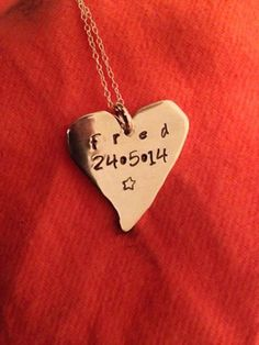Sterling Silver Personalised Heart / Leaf Pendant Necklace