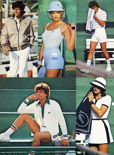 lacoste tennis whites ad campaign vintage seventies