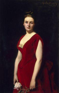 """Portrait of Anna Obolenskaya"", 1887, by Charles Emile Auguste Carolus-Duran (French, 1838-1917)"