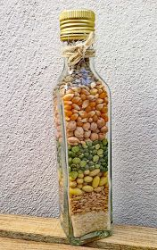 Seeds of Abundance New Year 2019 Glass Bottle Crafts, Diy Bottle, Bottle Art, Rope Crafts, Diy And Crafts, Diy Kitchen Decor, Diy Home Decor, Deco Nature, Jar Art