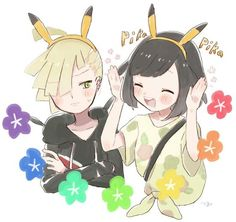 Aww I do ship them. Pokémon sun and Moon characters Gladion and Moon in love. Sunmoonshipping