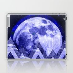 Fractal Moon from an alternate universe on ipad, laptop, macbook  Also on many more products from clothing to phone cases and wall art etc    #laptop #laptopcase #ipadcase