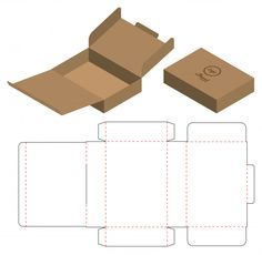 Design de modelo de corte de embalagem d. Diy Gift Box, Diy Box, Box Packaging Templates, Packaging Design Box, Food Packaging, Package Design, Paper Box Template, Box Template Printable, Box Templates