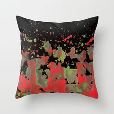 Aqua: Watermelon burst! Throw Pillow by Marina Kanavaki - $20.00