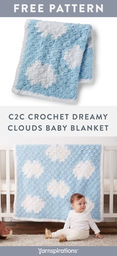Free crochet pattern using Bernat Pipsqueak yarn. Create a squishy crochet blanket using the popular corner-to-corner graph-ghan technique. Baby Boy Crochet Blanket, Easy Baby Blanket, Bernat Baby Blanket, Baby Blankets, Crochet Bebe, Crochet For Boys, Free Crochet, Corner To Corner Crochet Pattern, Crochet Baby Blanket Free Pattern