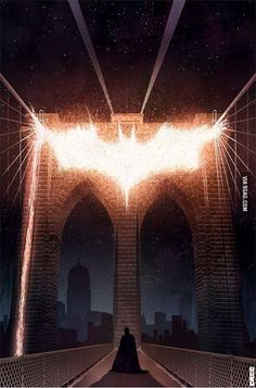 "onthewall Batman ""Bridge"" Art Poster Print by Matt Ferguson (MSP : Film Prints The Dark Knight Trilogy, The Dark Knight Rises, Batman The Dark Knight, I Am Batman, Batman Art, Batman Poster, Batman Phone, Dc Comics, Batman Comics"