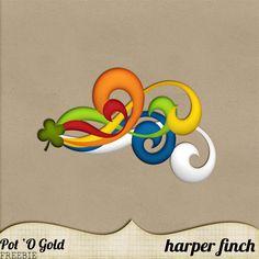 Pot O' Gold Freebie by Harper Finch by harperfinch.deviantart.com