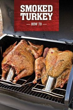 You think you've tasted turkey? Try smoked turkey, and it's a whole new level of delicious. Don't waste your time or oven space on a bird that's going to turn out dry and flavorless. Throw your turkey on the pellet grill instead, and get ready for the bes Smoker Grill Recipes, Grilling Recipes, Grilling Ideas, Wood Pellet Grills, Brine Recipe, Grilled Turkey, Camp Chef, Traeger Recipes, Smoke Grill