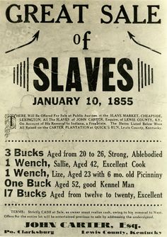 slave auctions posters - Google Search