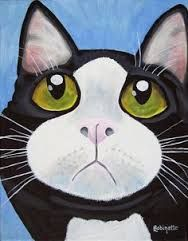 Image result for cartoon fat mean cat painting