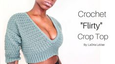 Wassup with the wassup! Happy New Year! Wanted to bring this flirty quick crop sweater to you! Materials: Impeccable Yarn i. Mode Crochet, Crochet Cord, Crochet Lace, Crochet Stitches, Crochet Cardigan Pattern, Crochet Blouse, Crochet Patterns, Crochet Summer Tops, Crochet Bikini Top
