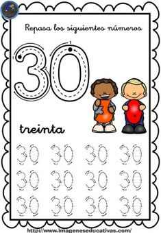 1 to 30 Numbers Line Study - Preschool Children Akctivitiys Numbers Preschool, Free Preschool, Preschool Activities, Projects For Kids, Crafts For Kids, Line Study, Tracing Worksheets, Number Sense, Writing Activities