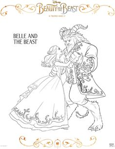 Set Of 10 BEAUTY AND THE BEAST Coloring Pages From Walt Disney Studios