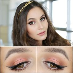 Spring Goddess | Peach & Coral Makeup Tutorial Colourpop Eyeshadow in Sequin, Viseart Matte Neutral Palette, Rouge Bunny Rouge Lipstick in Musings