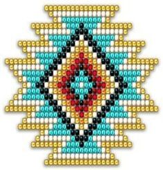 Native Style Rainbow Sunburst You are in the right place about crochet earrings white Here we offer you the most beautiful pictures about the tunisian. Native Beading Patterns, Beadwork Designs, Seed Bead Patterns, Native Beadwork, Native American Beadwork, Beaded Jewelry Patterns, Peyote Patterns, Cross Stitch Patterns, Bead Loom Designs