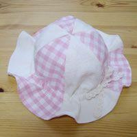 型紙無料ダウンロード(ベビー帽子チューリップハット)~ハンドメイドのココロ(新米ママの手芸&グルメ)