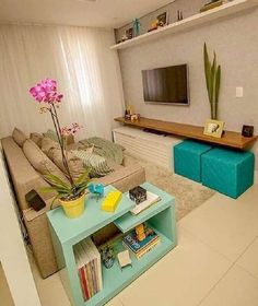 Novel Small Living Room Design and Decor Ideas that Aren't Cramped - Di Home Design Small Living Rooms, Home Living Room, Living Room Designs, Living Room Decor, Cozy Living, Apartment Living, Furniture For Living Room, Tv Room Small, Small Den