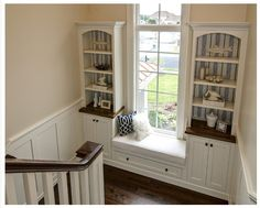 Staircase landing built-ins