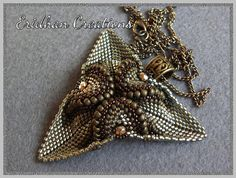 Beaded pendant Twisted Triangle tutorial by EridhanCreations, $5.00