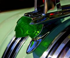 Hood Ornament from a mid 50's Pontiac...believe they came in different colors to complement the paint scheme of the car...T. Kremer