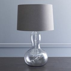 # one on side table. Gourd Table Lamp - Charcoal | west elm