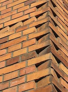 Brick masonry architecture, projects, research, and documention. Brick Masonry, Masonry Wall, Brick Cladding, Brick Facade, Brick Roof, Brick Architecture, Architecture Details, Front Wall Design, Brick Works