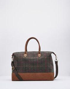 Paddington Heather Check Weekend Bag , Size One Size | Joules UK