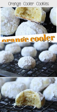 These Melt-In-Your-Mouth Orange Cooler Cookies are citrusy, sweet, buttery and coated in powdered sugar! Betty Crocker Sugar Cookies, Sour Cream Sugar Cookies, Pumpkin Sugar Cookies, Sugar Cookie Cakes, Chocolate Sugar Cookies, Easy Sugar Cookies, Sugar Cookie Dough, Christmas Sugar Cookies, Sugar Cookies Recipe