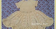 This beautiful lotus baby dress free crochet pattern is a great project for your to-do list! Make one with the free pattern below now! Crochet Baby Dress Free Pattern, Baby Cardigan Knitting Pattern Free, Crochet Dress Girl, Baby Girl Crochet, Crochet Baby Clothes, Baby Knitting Patterns, Free Crochet, Baby Girl Patterns, Baby Clothes Patterns