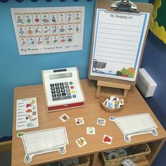 Writing area - shopping list Creative Area Eyfs, Creative Activities For Kids, Early Years Maths, Early Years Classroom, Continuous Provision Year 1, Eyfs Classroom, Primary Classroom, Kindergarten Writing, Literacy