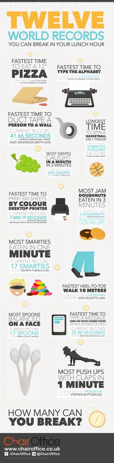 12 World Records to Break During Your Lunch Hour | The Muse