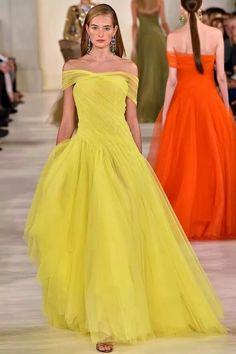 Robe jaune printemps ete 2019