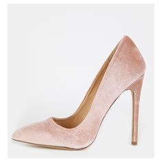 Stiletto Velvet Pointy Toe Heels NUDE ($28) ❤ liked on Polyvore featuring shoes, pumps, nude, nude high heel shoes, pointed toe stilettos, nude shoes, pointy toe stiletto pumps and stilettos shoes