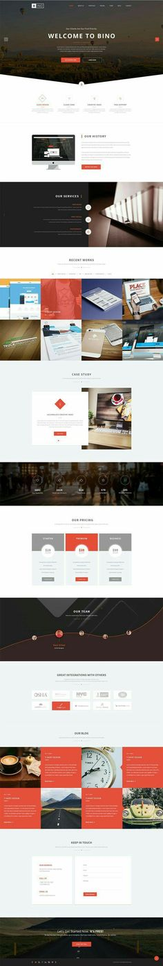 A showcase of 35 Best Free Landing Page PSD Templates fully editable PSD format so that you can easily change colors, text, fonts and styles to your needs Website Design Inspiration, Landing Page Inspiration, Website Layout, Web Layout, Layout Design, Web Design Mobile, Web Ui Design, Flat Design, Maquette Site Web