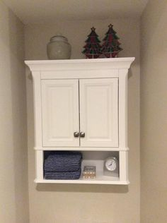 Home Decorators Collection Moorpark 24 in. W x 28 in. D Bathroom Storage Wall Cabinet in White at The Home Depot - Mobile Bathroom Cabinets Over Toilet, Bath Cabinets, Over The Toilet Cabinet, Small Bathroom Storage, Wall Storage, Storage Ideas, Tidy Room, Vanity Cabinet, Modern Bathroom