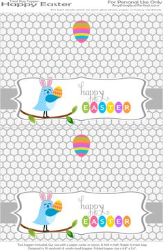 free printable easter bag topper